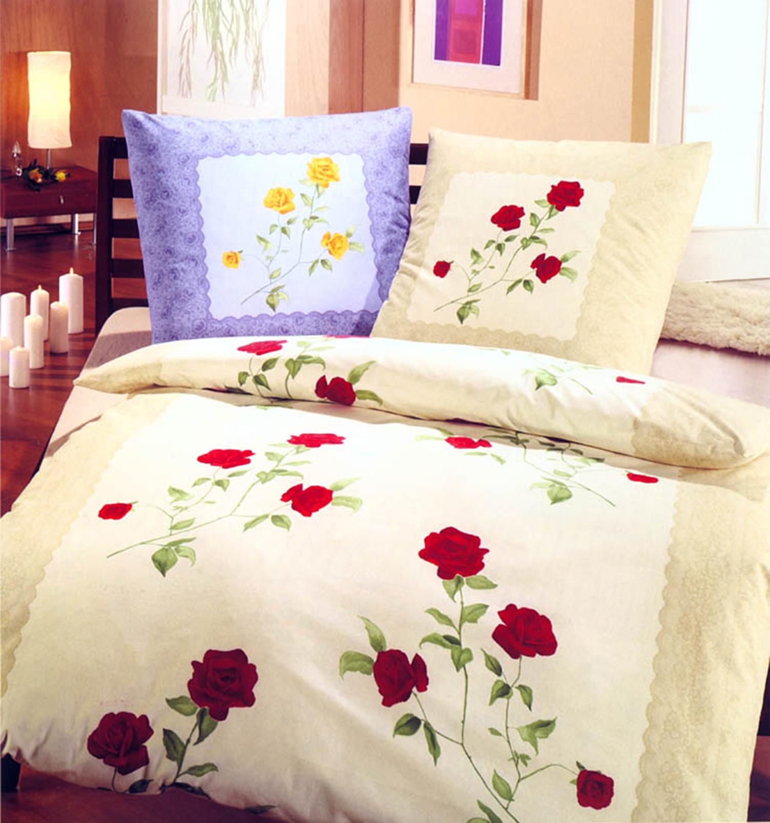 dormisette winter renforce bettw sche rose 135 oder 155 x 220 cm ebay. Black Bedroom Furniture Sets. Home Design Ideas