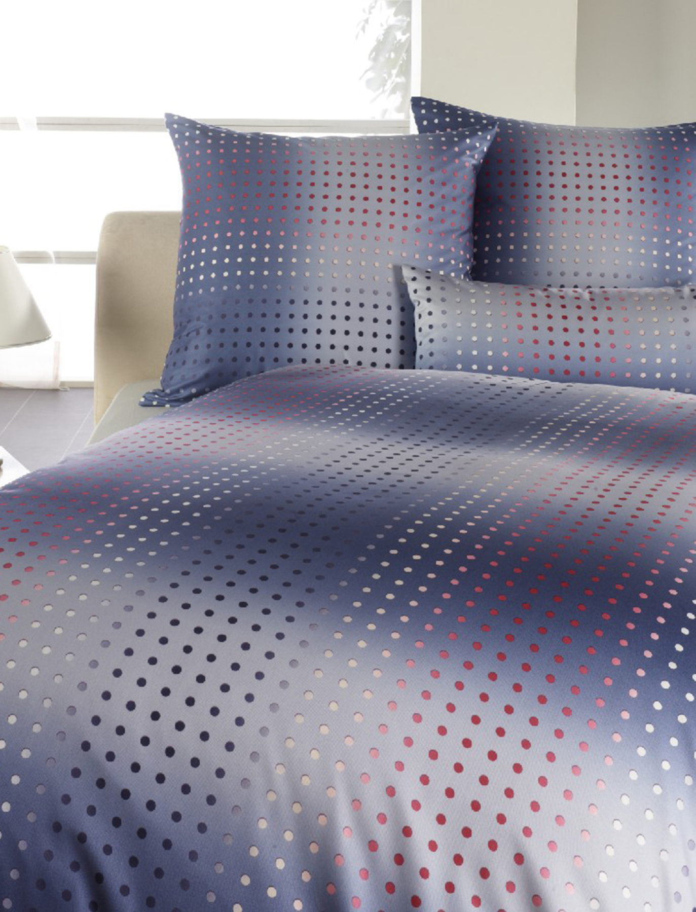curt bauer mako jersey bettw sche kissenbez ge dots 135x200 80x80 40x80 cm ebay. Black Bedroom Furniture Sets. Home Design Ideas