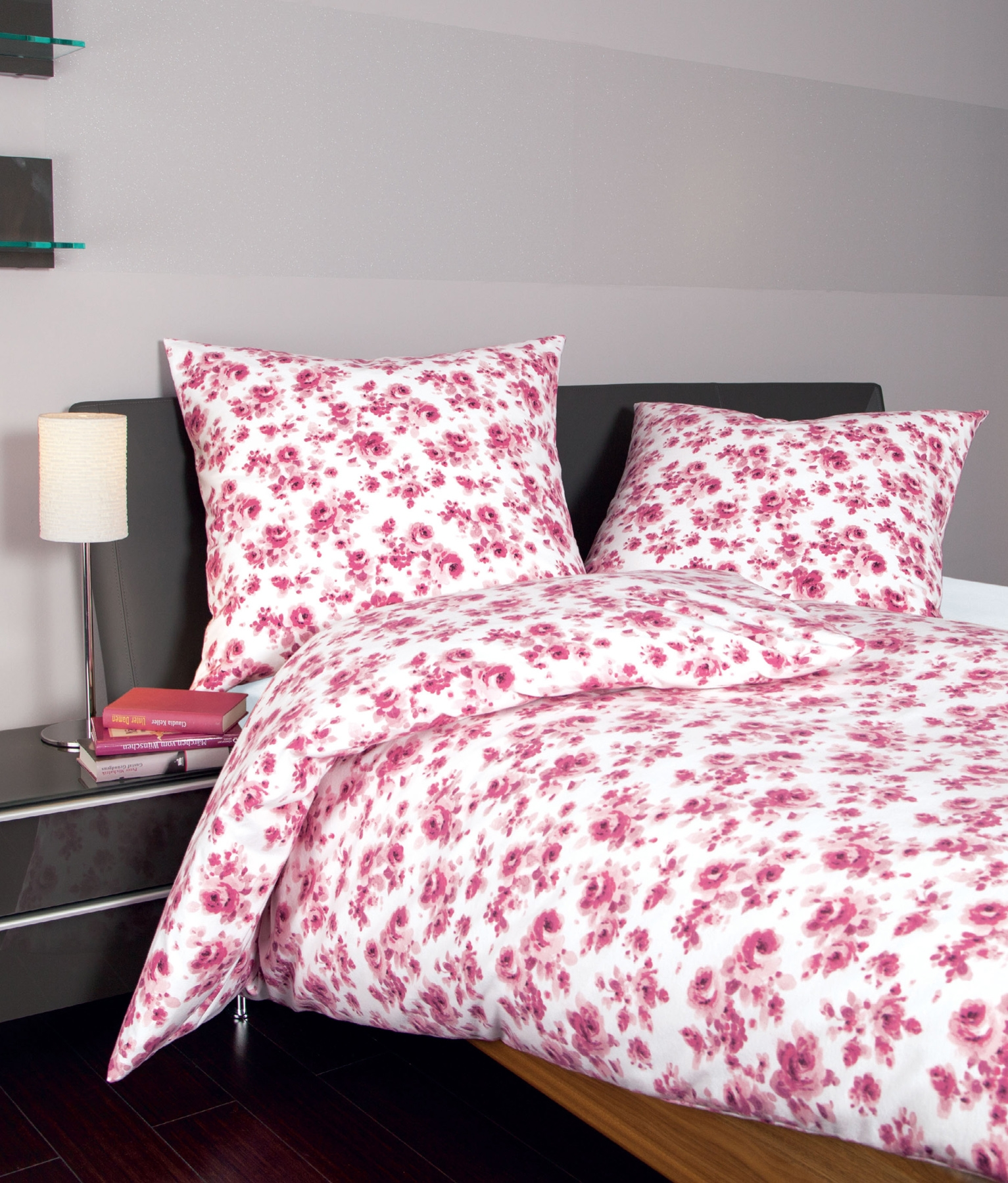 janine fein biber bettw sche 6500 155 x 220 80x80 cm in fuchsia ebay. Black Bedroom Furniture Sets. Home Design Ideas