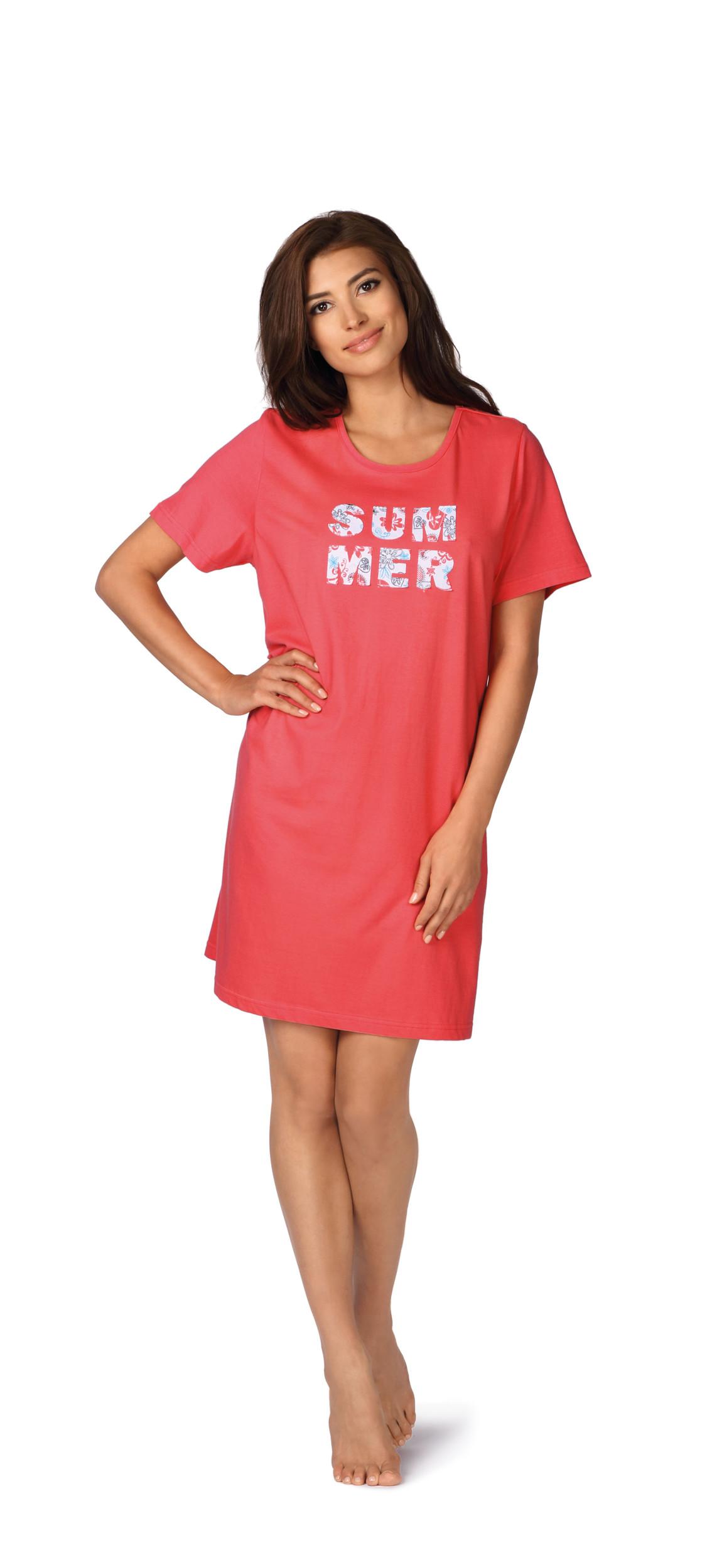 finest selection 024a7 c3a07 Comtessa Damen Nachthemd kurzer Arm koralle 36 38 40 42 44 ...