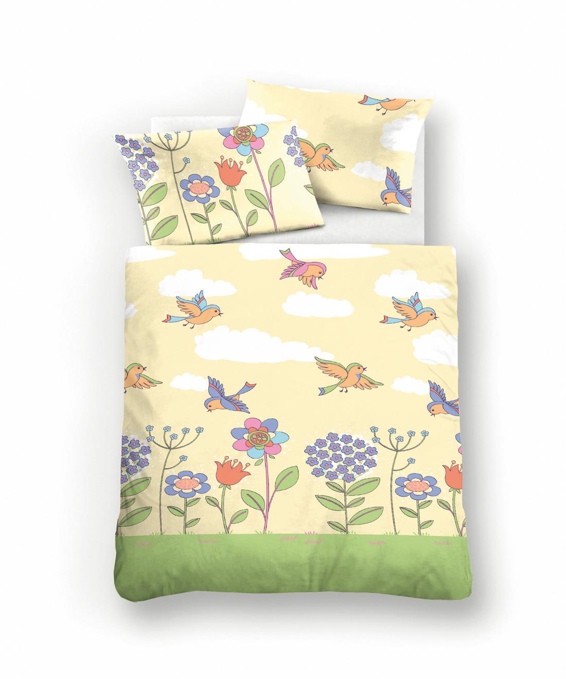 biberna baby linon bettw sche tierpiraten 100x135 40x60 in blau schlafst. Black Bedroom Furniture Sets. Home Design Ideas