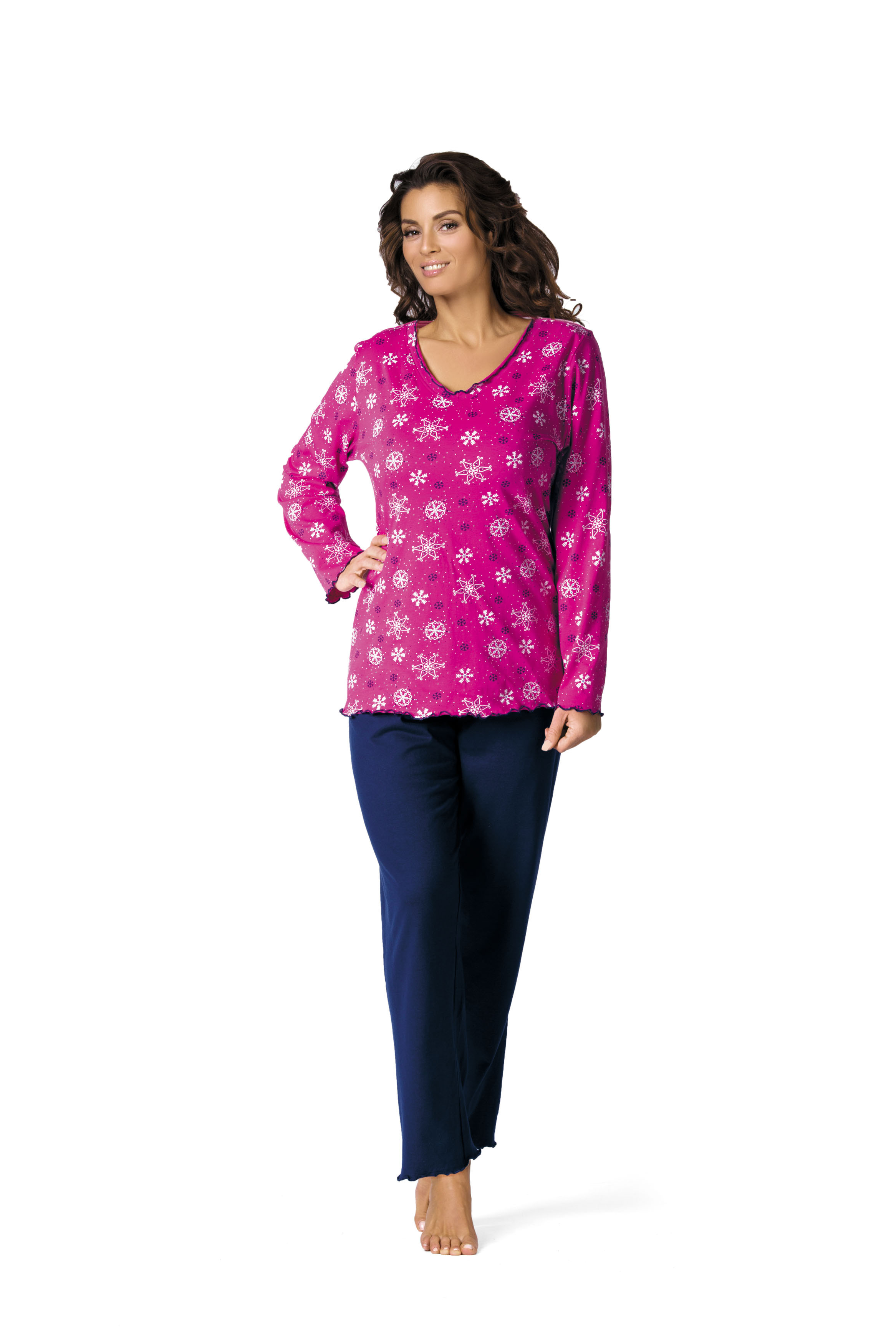Comtessa Damen Schlafanzug Pyjama in fuchsia 44
