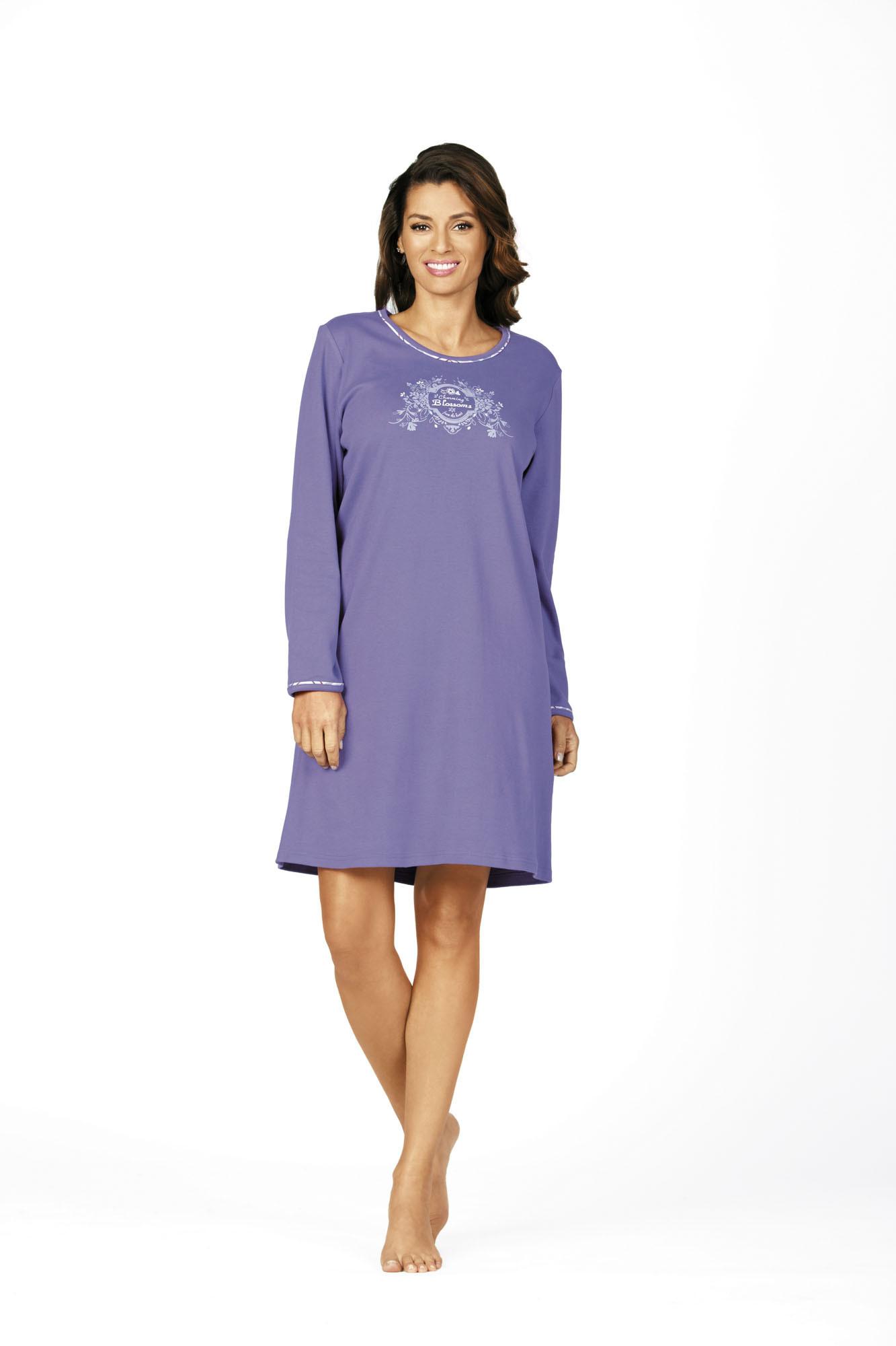 Comtessa Damen Nachthemd Schlafshirt in violett 36 38 40 42 44 46 48 50 52 54