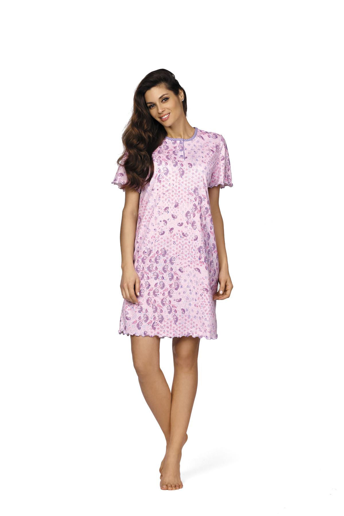 quality design b9f6f ea911 Comtessa Premium Nachthemd Schlafshirt Damen kurzer Arm rosa ...