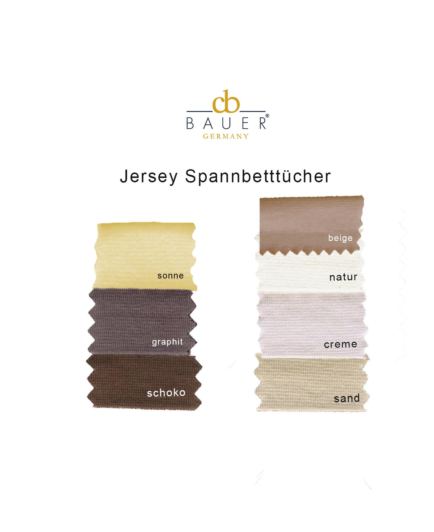 Curt Bauer Jersey Spannbettlaken Farbkarte