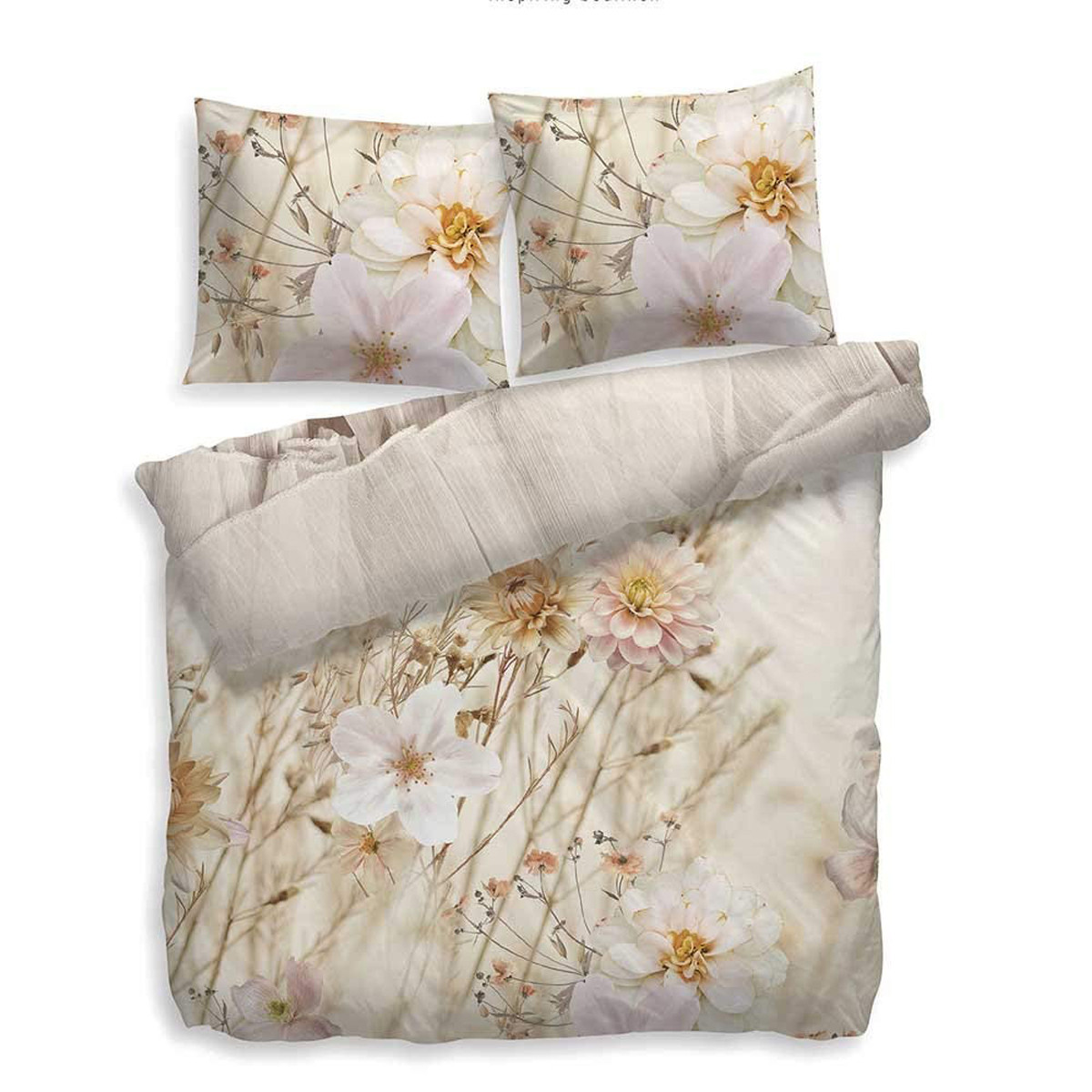 Hnl Renforce Bettwäsche Mazamet Blumen 100 Baumwolle 135 X 200