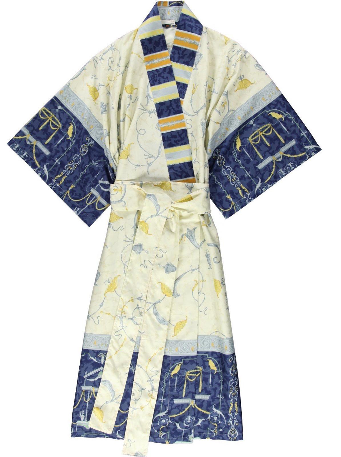 Bassetti Damen Kimono Oplontis V9 Blau S-M L-XL
