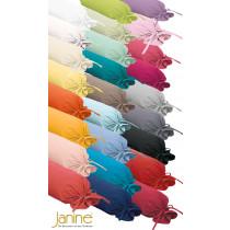 Janine Uni Mako Soft Seersucker Nackenrollen Bezug 15x40 cm 26 Farben