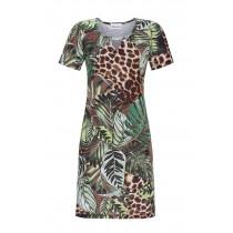 Ringella Damen Sommer Kleid kurzer Arm 1221032 Bunt Dschungel Gr. 38 S Muster Beach