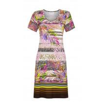 Ringella Damen Sommer Kleid kurzer Arm 1221034 Bunt Dschungel Gr. 38 S Muster Beach