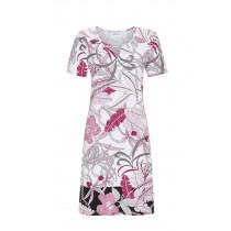 Ringella Damen Sommer Kleid kurzer Arm 1221037 Pink Floral Gr. 38 S Muster Beach