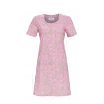 Ringella Damen Kleid Pastell Pink kurzer Arm Gr. 38 Muster Beach