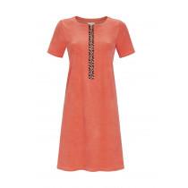 Ringella Damen Frottee Kleid Strandkleid Hauskleid Reißverschluss Koralle Gr. 38 Muster