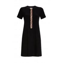 Ringella Damen Frottee Kleid Strandkleid Hauskleid Reißverschluss Schwarz Gr. 38 Muster