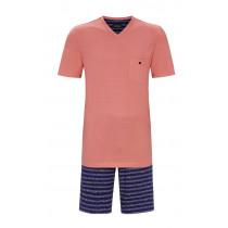 Ringella Herren Schlafanzug kurzer Arm 1241309 Granat 100% Baumwolle 56 80 60