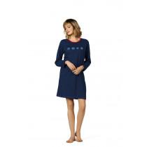 Comtessa Nachthemd Damen langer Arm blau 36 38 40 42 44 46 48 50 52 54 56 58 S M L XL XXL