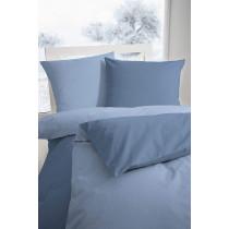 Edel Flanell Bettwäsche Doppelgarnitur Blau 200x200 + 2x 80x80 cm
