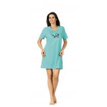 Comtessa Nachthemd Damen kurzer Arm blue curacao 36 38 40 42 44 46 48 50 52 54 56 58 S M L XL XXL XXL