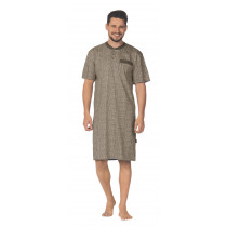 Comte 181702 Herren Nachthemd kurzerr Arm 100% Baumwolle Taupe Gr. 56 XL