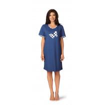 Comtessa Damen Nachthemd 181227 kurzer Arm Jeansblau Gr. 36-38 S