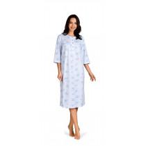 Comtessa Damen Nachthemd langer Arm Bleu 36 38 40 42 44 46 48 50 52 54 56 58 100% Baumwolle