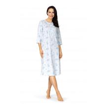 Comtessa Damen Nachthemd kurzer Arm Bleu 36 38 40 42 100% Baumwolle