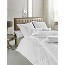 Estella Premium Damast Bettwäsche / Kissenbezüge in Weiß