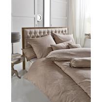 Estella Premium Damast Bettwäsche / Kissenbezüge in Kiesel