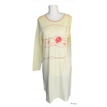 Comtessa Damen Nachthemd lang in gelb Gr. 36 38 Muster