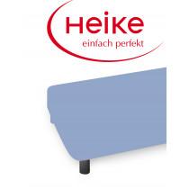 Heike Mako Interlock Jersey Spannbettlaken 90-100x200 cm Mittelblau 5800