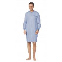 Comte 62704 Herren Nachthemd langer Arm 100% Baumwolle Blau Gr. 48 S
