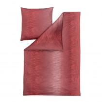 Estella Interlock Mako Jersey Bettwäsche Kaleb in mohn 155x220 + 80x80 cm