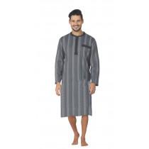 Comte 72528 Herren Nachthemd langer Arm 100% Baumwolle Grau Gr. 56 XL