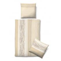 Biberna Jersey Bettwäsche in Sand 135 x 200 + 80 x 80 cm
