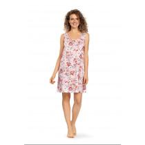 Comtessa Ascafa Damen Nachthemd ohne Arm Rose 100% Baumwolle