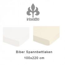 Irisette Fein Biber Spannbettlaken 100x220 cm in weiß oder natur