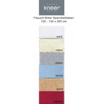 Biber Flausch Spannbettlaken von Kneer 120 - 130 x 200 cm in 6 Farben