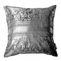 Kissenbezug Kissenhülle Zierkissenbezug 100% Seide 40 x 40 cm grau schwarz