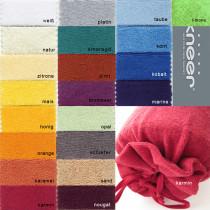Flausch Frottee Nackenrollenbezug von Kneer 15x40 cm in 20 Farben