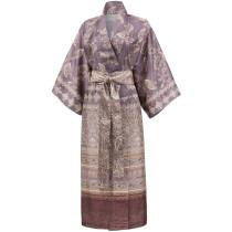 Bassetti Damen Kimono Matera G1 Grau Rosenholz S-M L-XL