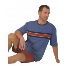 Moonline Herren kurzer Schlafanzug Shorty 100% Baumwolle Gr. M L 50 52