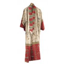 Bassetti Damen Kimono Oplontis V8 Rot S-M L-XL