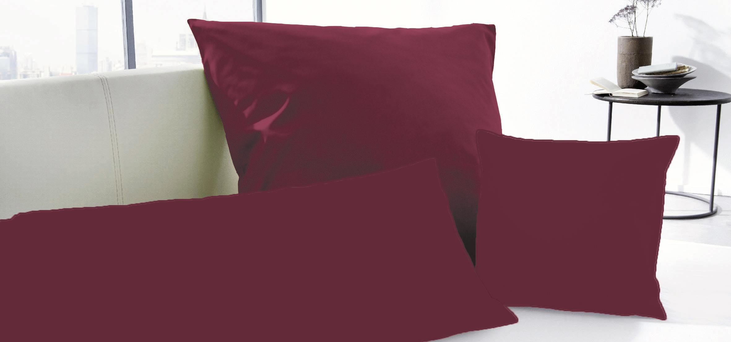 primera luxus satin kissenbez ge 40x40 40x80 80x80 cm in 9 farben ebay. Black Bedroom Furniture Sets. Home Design Ideas