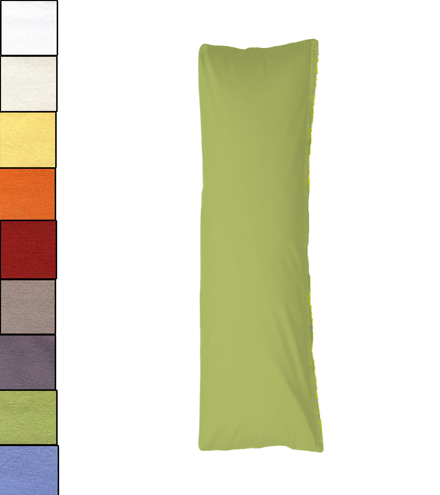 bellana kissen bezug seitenschl fer 40x140 cm mako jersey 100 baumwolle ebay. Black Bedroom Furniture Sets. Home Design Ideas